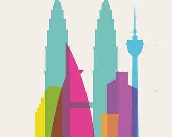 Shapes of Kuala Lumpur art print