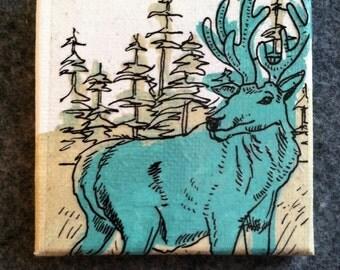 Mini Moose Canvas Painting