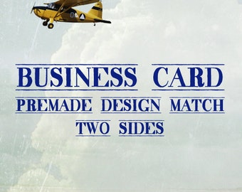 Business Cards (Pre-made Design Match) Two Sides
