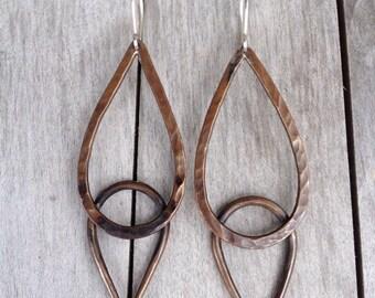 Forged Copper Earrings