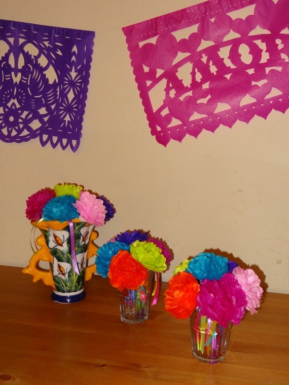 items similar to 20 tissue paper flower flowers  3 inch