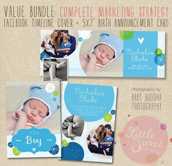 birth announcement template plus facebook timeline photoshop. Black Bedroom Furniture Sets. Home Design Ideas