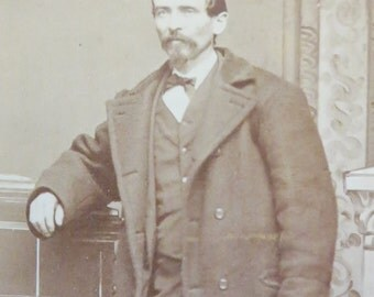 Original 1860's Industrious Handsome Man CDV Photograph - Free Shipping