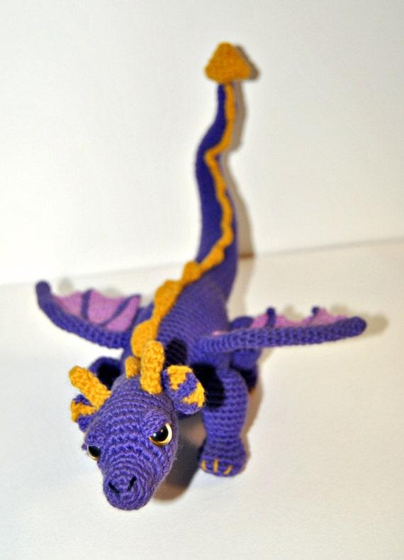 Amigurumi Dragon Allaboutami : Spyro the dragon amigurumi. by Kawaiirumis on Etsy