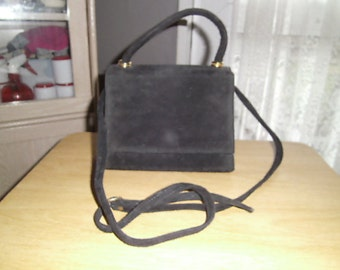 vintage black suede bag