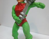 Vintage 1984 Panosh Place Masters of the Universe MOTU Man At Arms Collectible Eraser Figure. Retro MOTU Hipster.