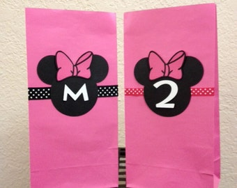 Minnie Mouse Birthday Goodie Bags/Treat Bags/Gift Bags (10 Bags)