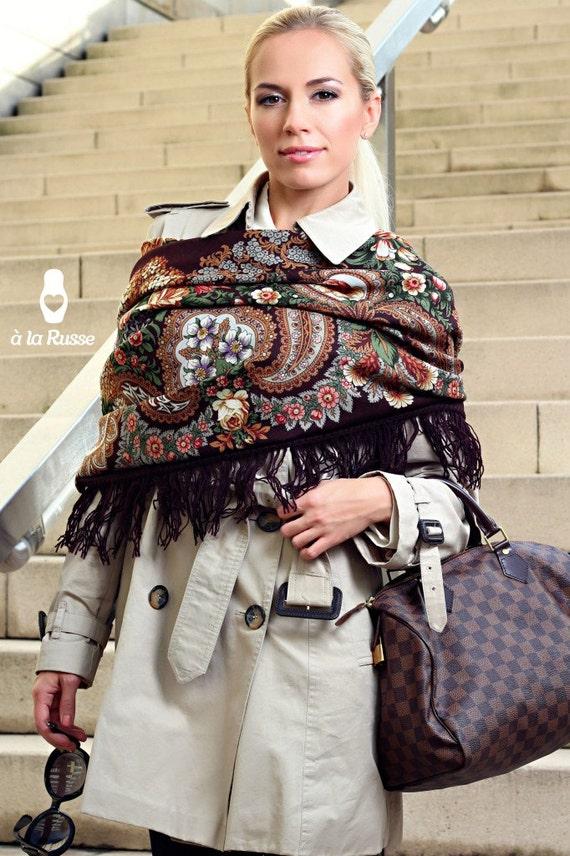 items similar to russian luxurious shawl oleana russian
