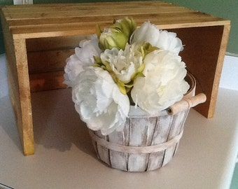 Wedding basket, flower girl basket, rustic basket