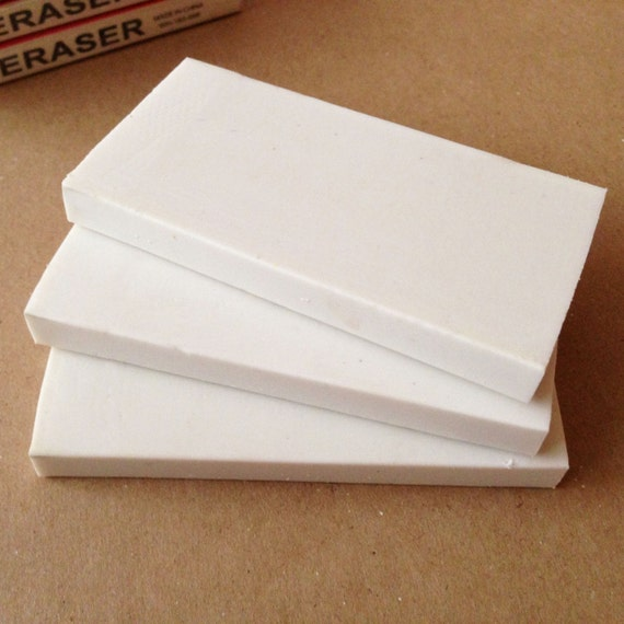 Rubber eraser for rubbercut stamp carving