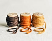Thick Cotton Twine Naturals Pack - Chocolate Brown, Burnt Orange and Amber - 10 Yards Each - thatchandthistleco