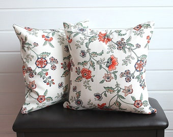 set of 2 - Carnation Blossoms Pillow Cases - Colorful - Summer Fashion - Home decor - 14x14 decorative throw pillow cover