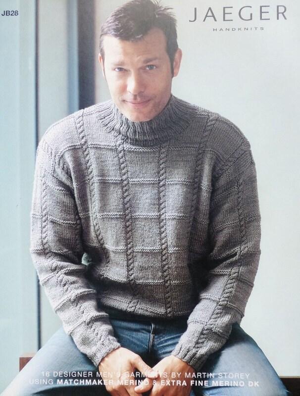 Knitting Pattern Book JAEGER MATCHMAKER MENS 16 Designer