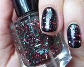 GLITTER Nail Polish Tannenbaum FAST DRY/Smooth & sparkly Nail Lacquer/Polish