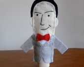 Pee Wee Herman Finger Puppet - Free shipping!