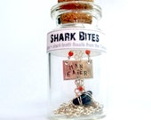 Shark Bites -  Sterling shark tooth fossil necklace