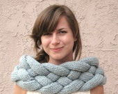 Hand Knitted Soft Bulky Braided Convertible Shrug Cowl - Made to Order