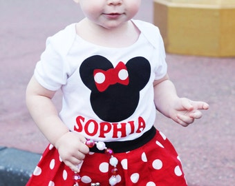 Boutique DRESS.. PERSONALIZED in our  Sweet mouse design ... Your childs name