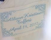 Wedding Dress Label with Decorative Border