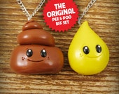 BFF Best Friends Necklace Set - Pee and Poo