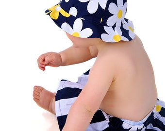 Girls Hat Pattern - Ruffled or Wide Brim Sun Hat Pattern baby toddler children kids