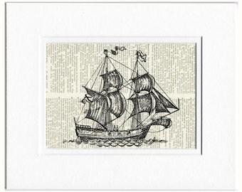 sail ship print
