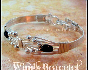 JEWELRY TUTORIAL -  Wings Wire Wrapped Bracelet - Instant Download