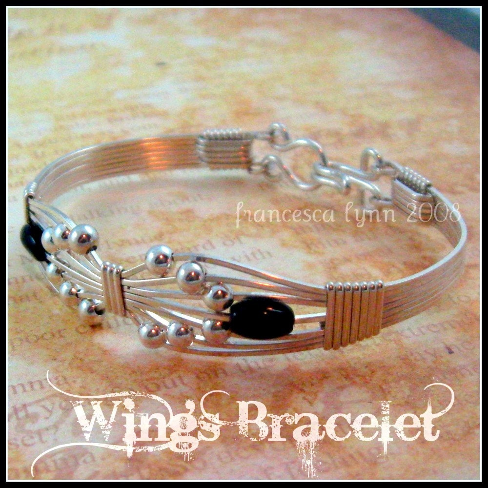 Wire Bracelets With Charms 2: JEWELRY TUTORIAL Wings Wire Wrapped Bracelet Instant