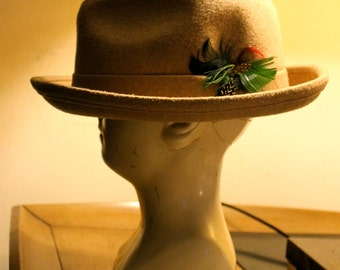Vintage Hat - Men's Fedora - Early 1960s - United Hatters cap and Millinery Workers Union