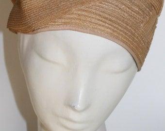 "ON SALE was 200 now 150, 1920 Vintage flapper Gatsby style Natural Straw Cloche Hat, 23"", Boardwalk Empire, 20s era"