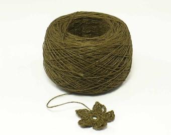 Crochet Thread 3 Ply Linen Thread Bronze Linen Yarn Natural Fiber Tatting Thread Specialty Thread