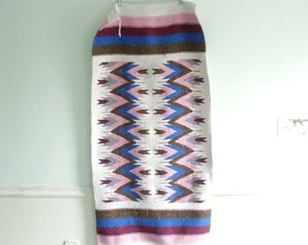 Mexican Southwestern Tribal Striped Rug or Wall Hanging