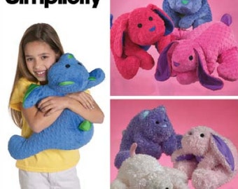 Micro Bead ANIMAL PILLOW Sewing Pattern - Squeezable Soft Animals Pillows OOP