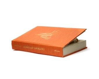 """Large Hollow Book Box Secret Storage """"Spirited Cooking"""" Orange Cookbook Hollowed Book Safe Hidden Book Lover Gift - CUSTOM ORDER"""