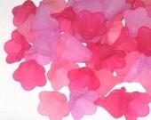 20 Acrylic Flower Beads Trumpet Petunia Flowers Flirt Mix
