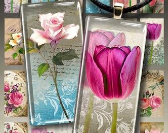 MAGIC GARDEN - 1x2 inch Digital Collage Sheet Printable downloadable art cult images for domino pendants bezel trays magnets scrapbook paper