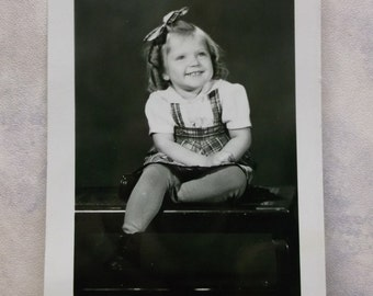 Adorable Little Girl w/ Ringlet Curls - Smile - Real Photo Postcard