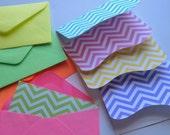 Chevron mini notecards and envelopes -  set of 5