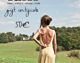 Gift Certificate 50 EUR