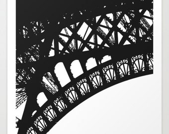 Eiffel Detail Silhouette - Fine Art Photograph