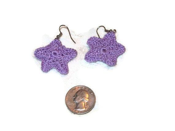 Starfish Dangle Earrings In Lilac