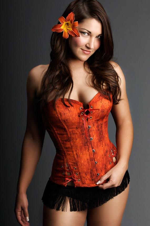 Image result for orange corset