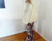 1970s Mongolian Lamb Fur Shaggy Curly Fur Coat