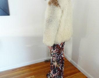 1970s Mongolian Lamb Fur Shaggy Curly Fur Coat