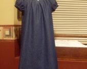 Private Listing for Goofy Plain Jane Dark Denim Peasant Dress, Size 5-6