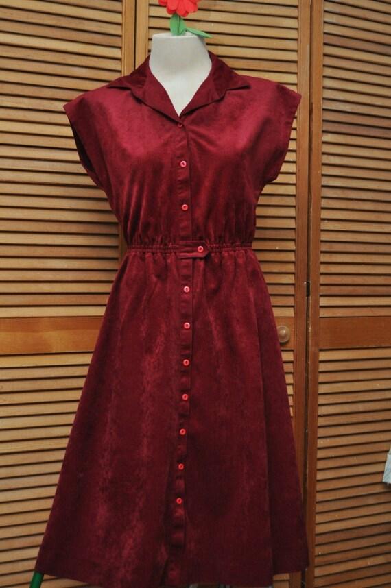 vintage ann es 70 secr taire robe style simili su de manches. Black Bedroom Furniture Sets. Home Design Ideas