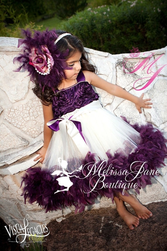 Whimsical Special Occasion Girls Clothing | Plum Divine Girls Dress