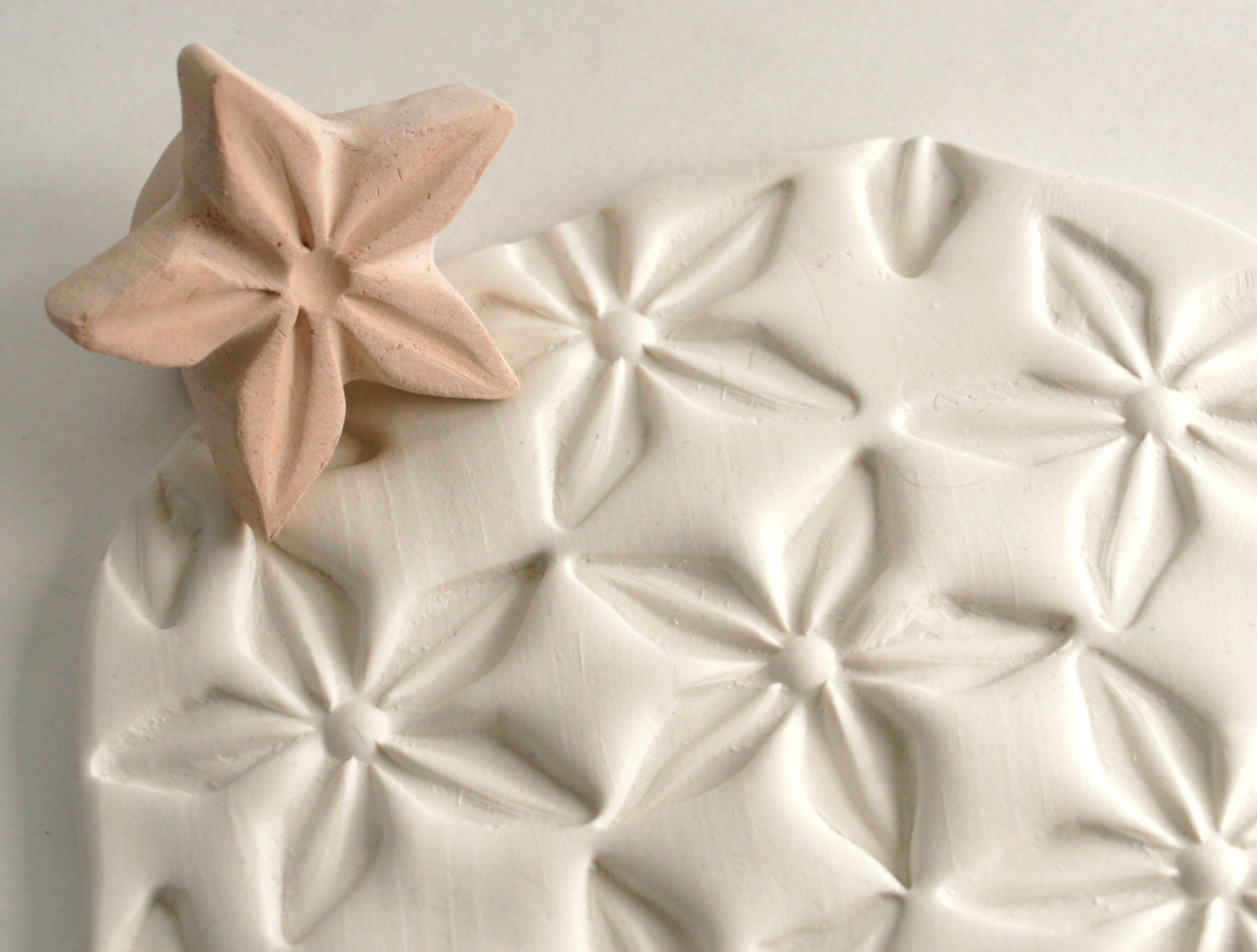 Clay Stamp Star Flower Jasmine Shape Pattern Texture Tool