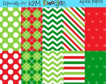Megan's Happy Holidays Digital  Paper Pack