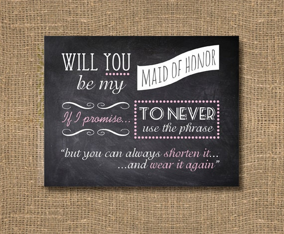Honor Or Honour On Wedding Invitations: Maid Of Honor Invite Bridesmaid Invitation / Will You Be My